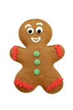 Ginger Bread Man. Isolated on white background Royalty Free Stock Photos