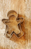 Ginger bread man cookie cutter Royalty Free Stock Photos