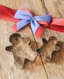 Ginger bread man cookie cutter Royalty Free Stock Photography
