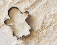 Ginger bread man cookie cutter Royalty Free Stock Image