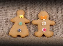 Ginger Bread Man and Woman. Royalty Free Stock Photography