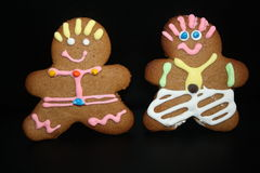 Ginger bread men Royalty Free Stock Images