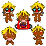 Ginger Bread Motion. Ginger Bread  pictures used as illustrations. Which has a variety of emotions Stock Photos