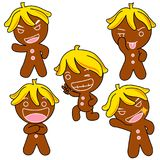 Ginger Bread Motion. Ginger Bread  pictures used as illustrations. Which has a variety of emotions Stock Image