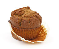 Ginger bread muffin on white background Royalty Free Stock Image