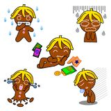 Ginger Bread Motion. Ginger Bread pictures used as illustrations. Which has a variety of emotions royalty free illustration