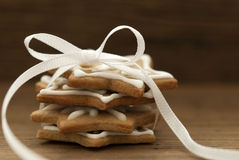 Ginger Breads with Bow Royalty Free Stock Image
