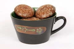 GINGER BREADS WITH CUP Stock Photos