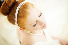 Ginger bride Stock Photography