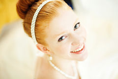 Ginger bride Royalty Free Stock Images
