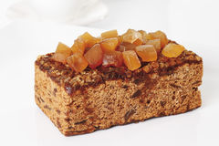 Ginger cake with candied ginger Royalty Free Stock Photo