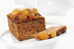 Ginger cake with candied ginger Royalty Free Stock Photos