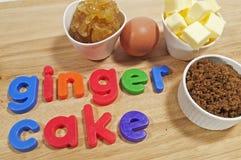 Ginger Cake Ingredients Stock Photo