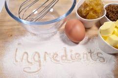 Ginger Cake ingredients Royalty Free Stock Images