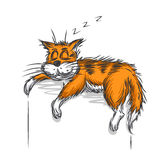 Ginger cat stock illustration