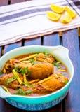 Ginger Chicken Curry - plat de poulet épicé indien Photos stock