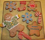 Ginger Christmas kakor Fotografering för Bildbyråer
