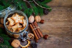 Ginger Christmas-Plätzchen stockfoto