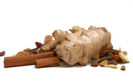 Ginger and cinnamon Stock Photography