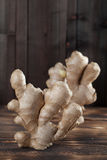 Ginger. Close-up of standing ginger roots. Shallow dof royalty free stock images