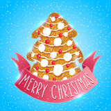 Ginger cookie christmas tree Royalty Free Stock Images