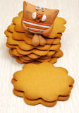 Ginger cookies Stock Photos