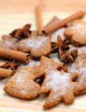 Ginger cookies. With cinnamon and anise Royalty Free Stock Photos
