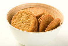 Ginger cookies in bowl Royalty Free Stock Photos