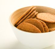 Ginger cookies in bowl Stock Photos