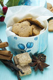 Ginger cookies in box with Holand symbol Stock Photos