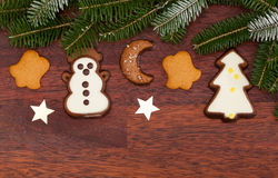 Ginger cookies during christmas time Stock Image