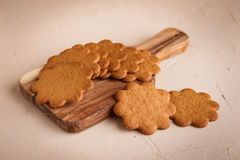 Ginger cookies on concrete background Stock Photos