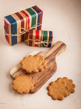 Ginger cookies on concrete background Royalty Free Stock Photography