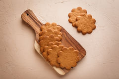 Ginger cookies on concrete background Stock Photography