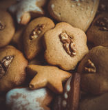 Ginger cookies for the Easter celebration Royalty Free Stock Images