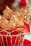 Ginger cookies on a festive table Stock Photography