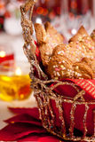 Ginger cookies on a festive table Royalty Free Stock Photo