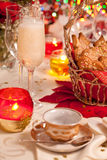 Ginger cookies on a festive table Stock Photos