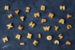 Ginger Cookies Little Letters Fotografia Stock Libera da Diritti