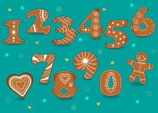 Ginger Cookies Numbers Illustration Libre de Droits