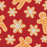 Ginger cookies seamless pattern. Royalty Free Stock Photography