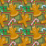 Ginger cookies seamless pattern Stock Image