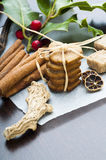 Ginger cookies and species Stock Photography