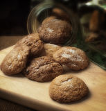 Soft ginger cookies Royalty Free Stock Photos