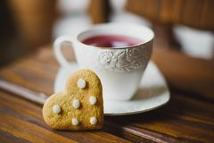 Ginger cookies and tea Royalty Free Stock Image