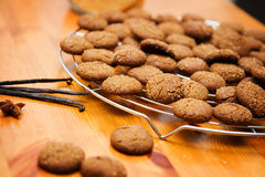 Ginger cookies. On wooden table Stock Photo
