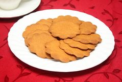 Ginger Crisp Cookies Stock Images