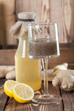 Ginger drink with chia seeds. Shallow dof Royalty Free Stock Photography