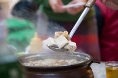 Ginger duck Chafing dish Royalty Free Stock Photography