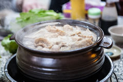 Ginger duck Chafing dish Stock Photography